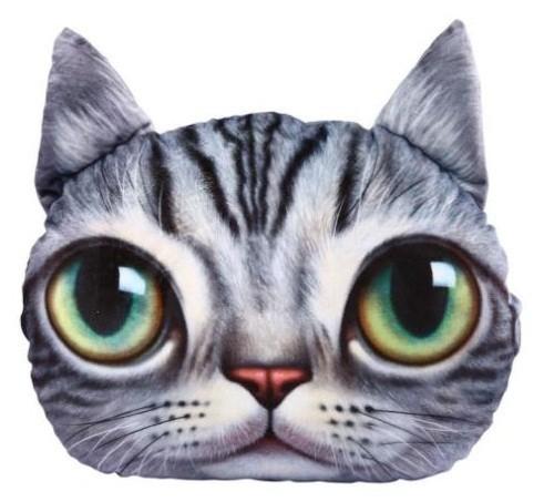 cojines 3D con cara de gato