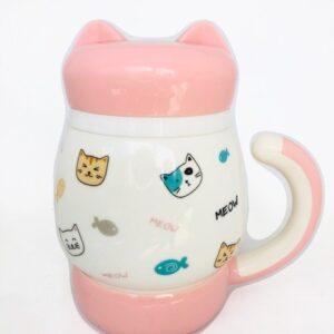 Cat mugs rosado